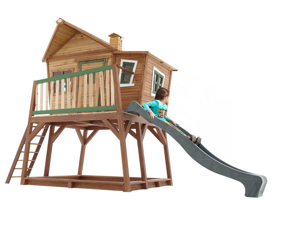 Extrem Kinder-Holz-Spielhaus groß & hoch Comic Kinderspielhaus auf AV27