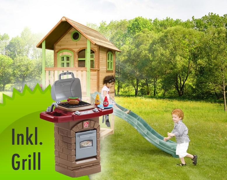 Beliebt Stelzen-Spielhaus hohes, kleines Kinderspielhaus Holz Rutsche inkl ST22