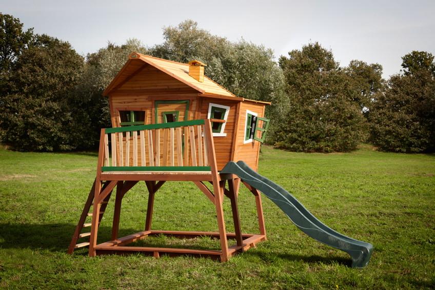 Kinder Holz Spielhaus Gross Hoch Comic Kinderspielhaus Auf Stelzen