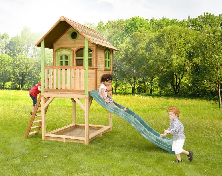 Stelzen Spielhaus Hohes Kleines Kinderspielhaus Holz Rutsche