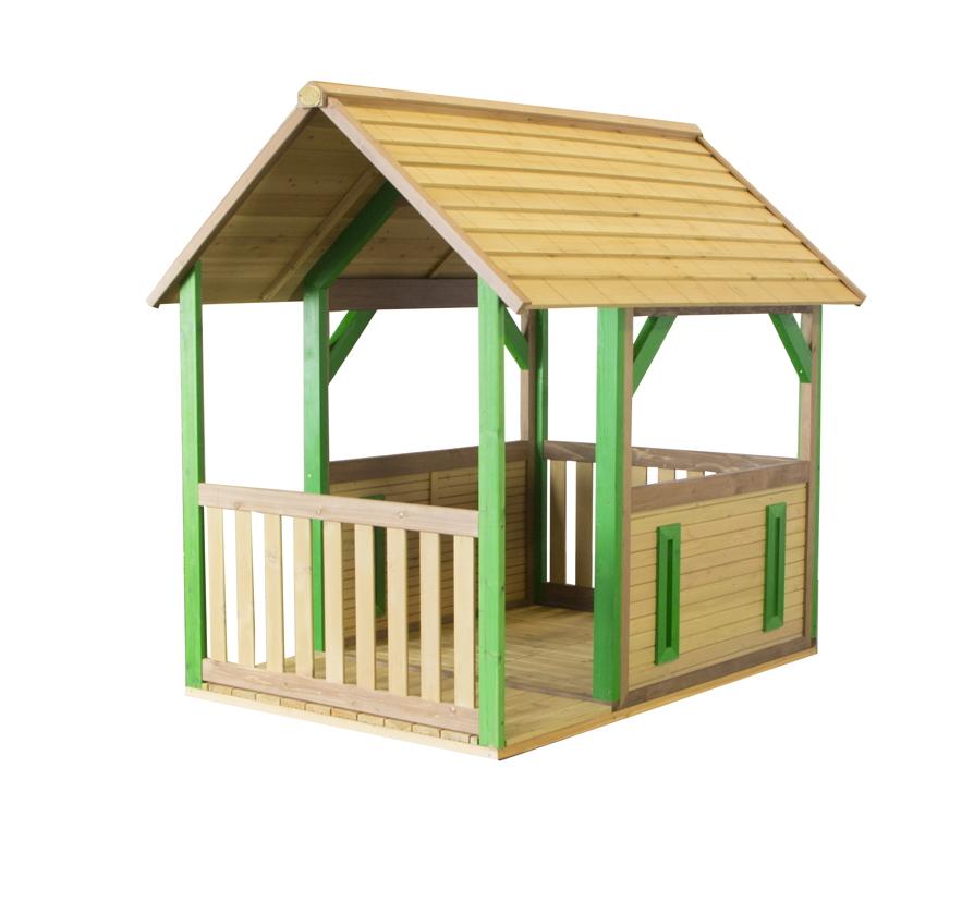 Holz Kinder Spielhaus Offenes Kinder Holzhaus Mit Veranda Fussboden