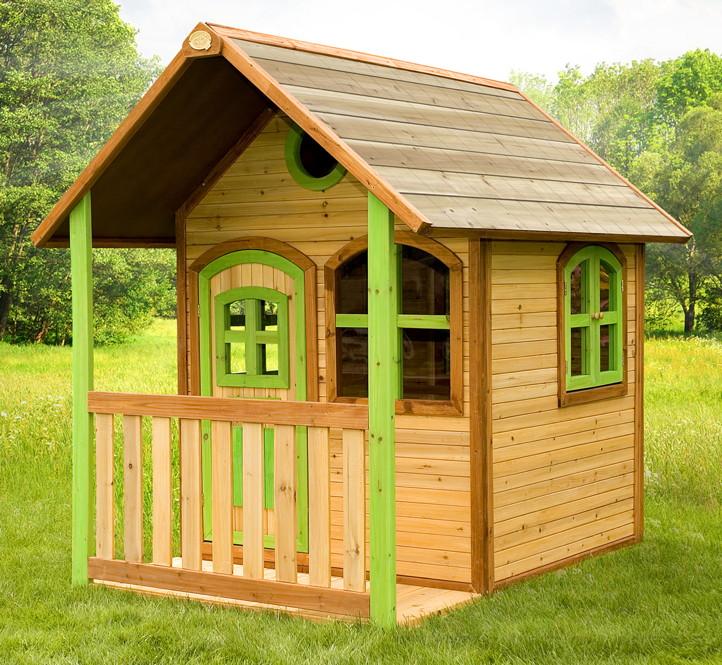 Relativ Kinder-Spielhaus geschlossen Veranda-Kinderspielhaus Holz farbig IJ55