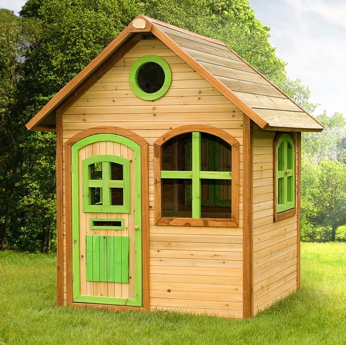 Relativ Holz-Kinder-Spielhaus Gartenspielhaus mit Tür & Fenster farbig HL76