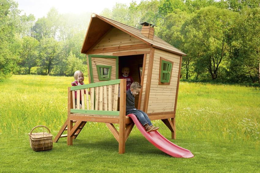 Gut bekannt Schiefes Comicstyle-Holz-Kinder-Spielhaus flaches Stelzen VN55