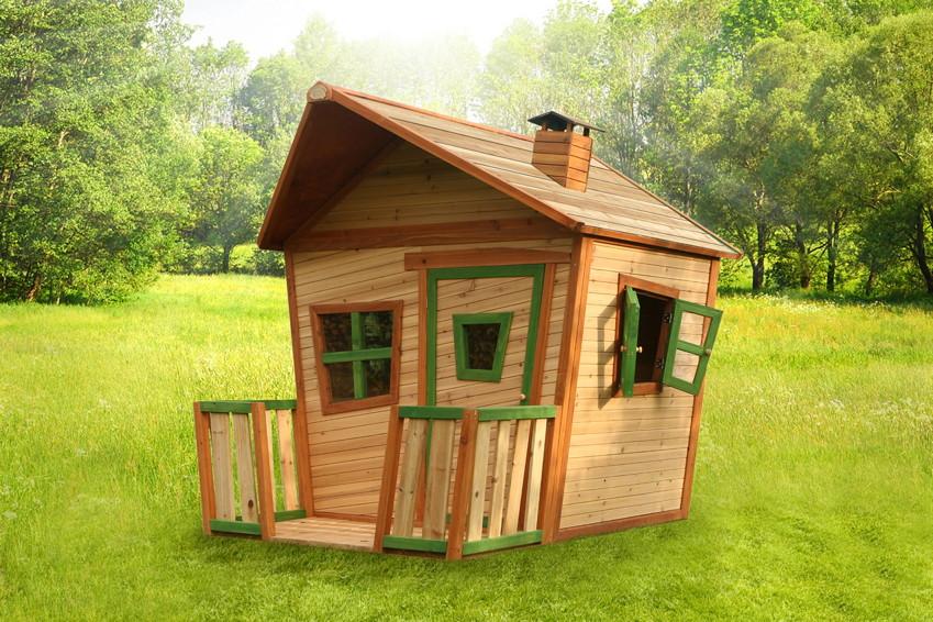 Kinder Spielhaus Holz Comic Kinderspielhaus Mit Terrasse Vom