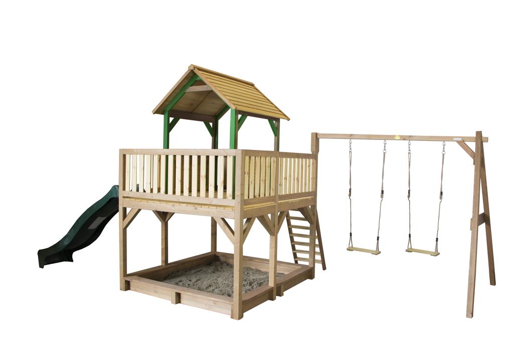 Kinder Spielturm Hoch Offen Stelzen Spielhaus Rutsche Grosse