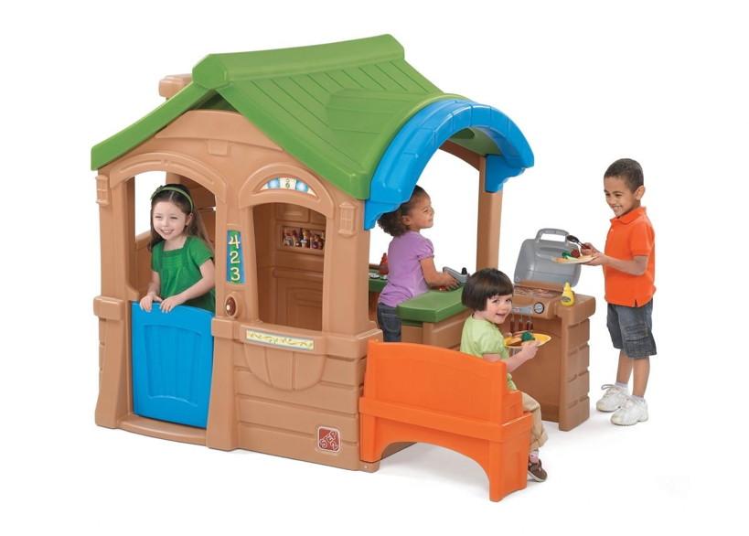 Outdoor Küche Für Kinder : Kinder spielhaus «grillhaus» kinderhaus kunststoff mit küche vom