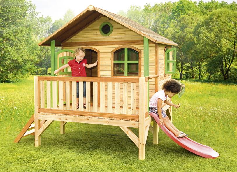 Top Kinder-Spielhaus flaches Podest Kinderspielhaus Stelzenhaus KJ64