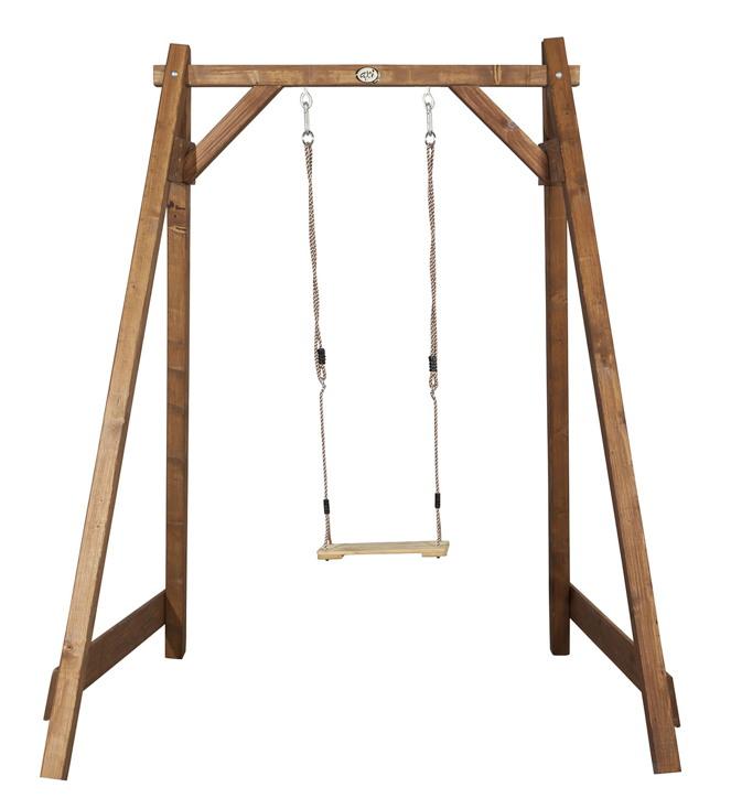 Gut gemocht Holz-Schaukelgerüst Bloxxis BeachStyle Einzelschaukel braun für UZ27