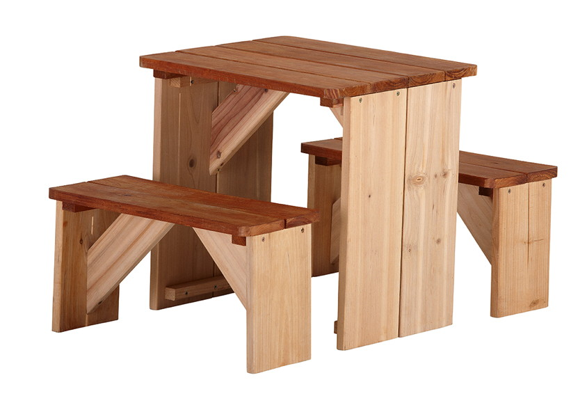 kinder picknickbank axi zidzed kinderbank holz sitzgruppe vom spielh user fachh ndler. Black Bedroom Furniture Sets. Home Design Ideas