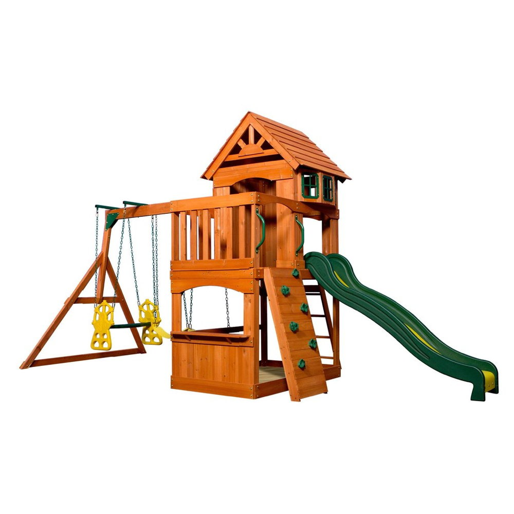 Extrem Kinder-Spielturm «Atlantic Tower» Stelzenhaus 3-fach Schaukel AH44
