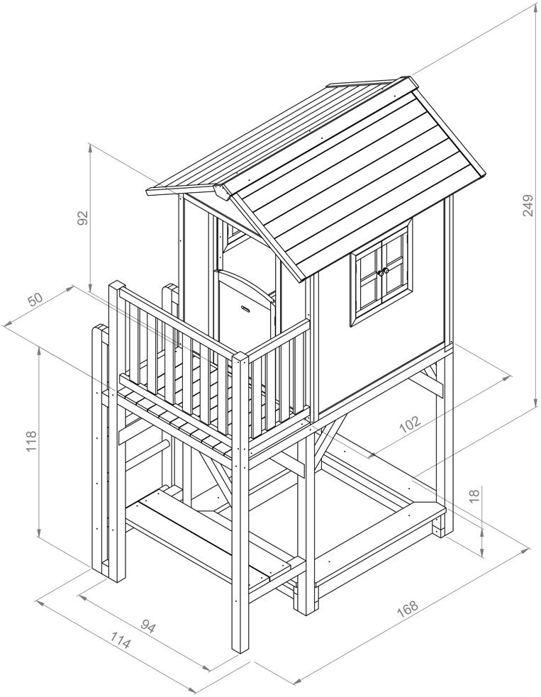 kinder spielhaus beachstyle lodge xxl plus blau stelzenhaus sandkasten vom spielh user. Black Bedroom Furniture Sets. Home Design Ideas