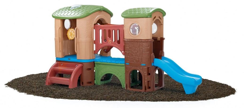 Beliebt Kinder-Kletterturm «Clubhaus» Spielhaus aus Kunststoff mit Rutsche OQ92