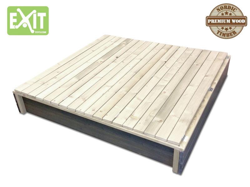 Berühmt Sandkasten EXIT «Aksent» Sandkiste Sandbox XL aus Holz   vom XC46