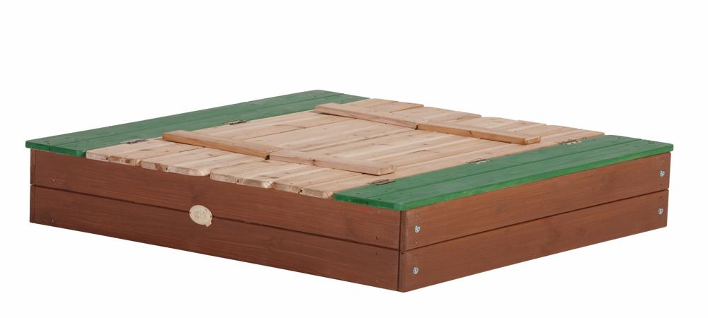 Hervorragend Sandkasten Holz «Ella XL» Sandkiste mit Abdeckung Holzsandkasten HE03