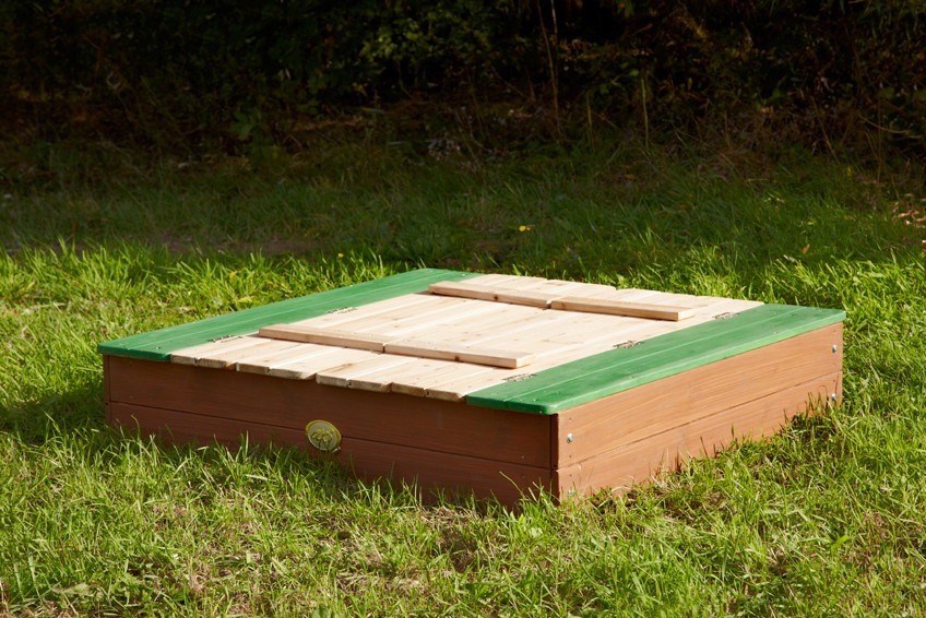 Favorit Sandkasten Holz «Ella» Sandkiste mit Abdeckung Holzsandkasten AC32