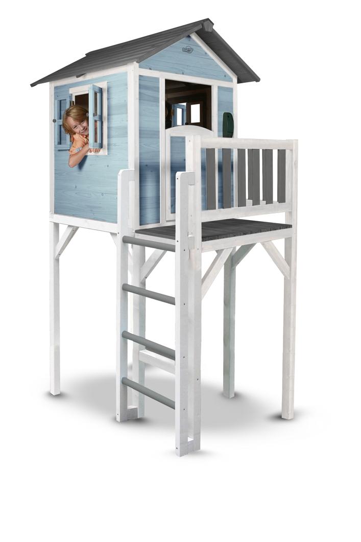 kinder spielhaus beachstyle lodge xxl blau stelzenhaus. Black Bedroom Furniture Sets. Home Design Ideas